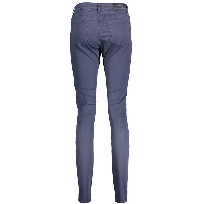 Skinny Satin Jeans - Marine