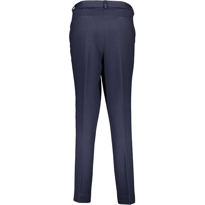 Piqué-Jersey-casual trousers - Blue