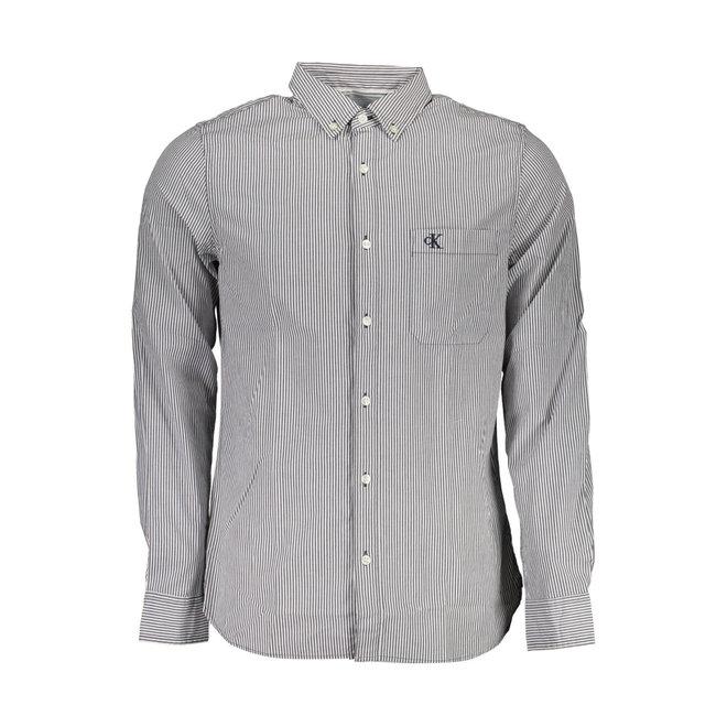 Stripe Button-Down Shirt  - Blue