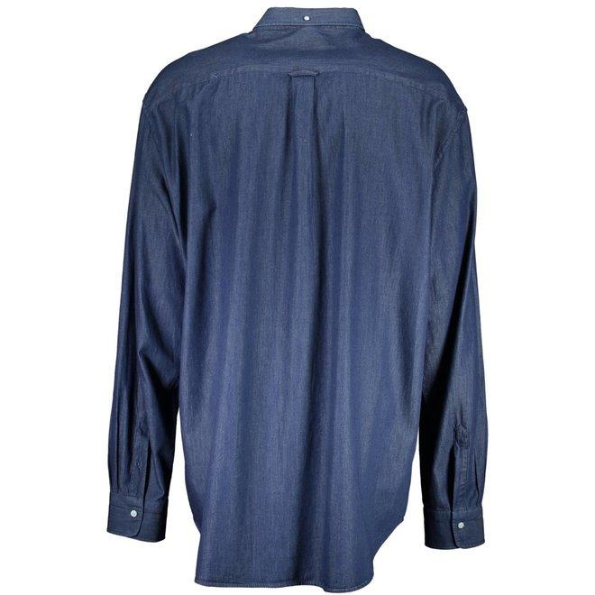 The indigo Regular Fit Broadcloth Shirt