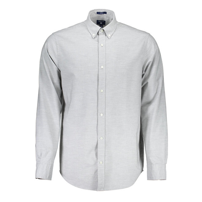 Regular Heather Oxford Shirt - Grey