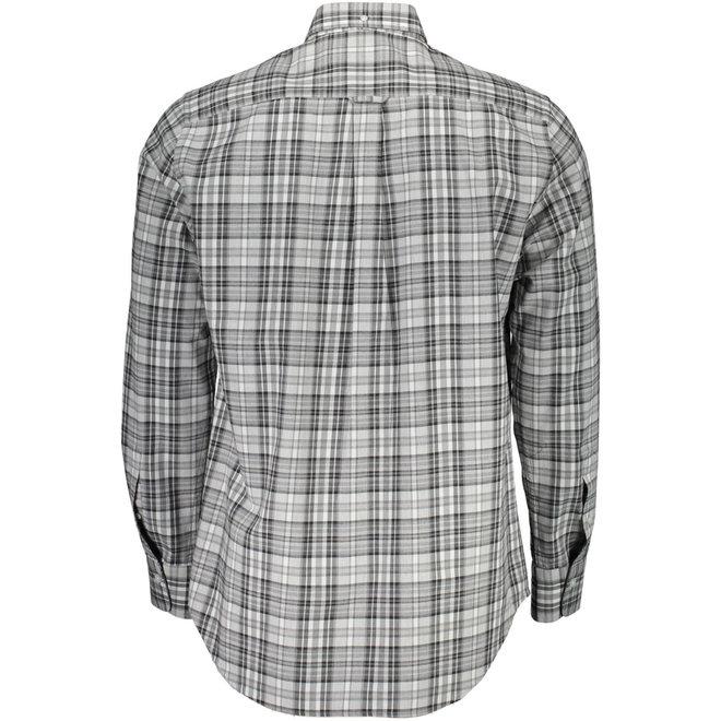 Regular Winter Twill Melange Plaid Shirt - Grey