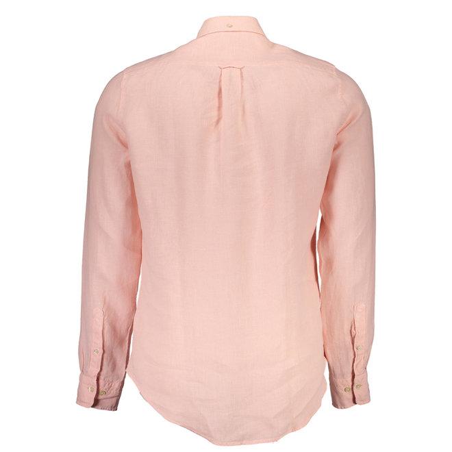 Dyed Linen Slim Shirt - Orange