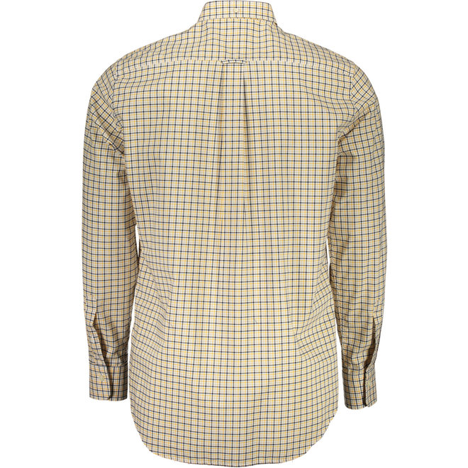 Regular Fit Three-Color Gingham Broadcloth Shirt - Yellow
