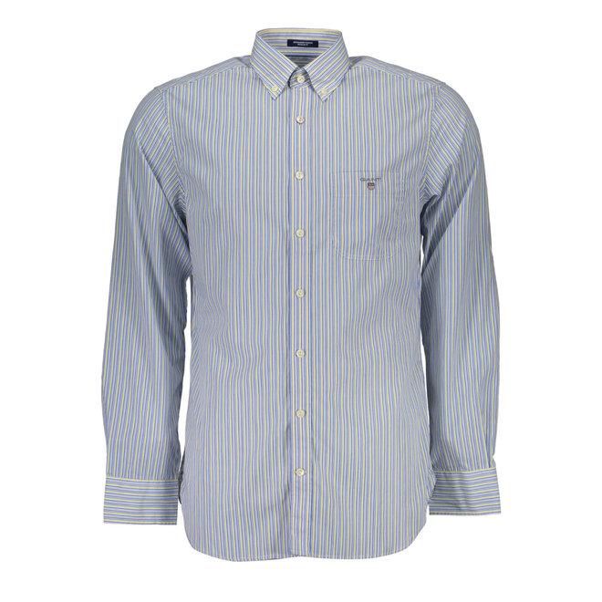 Blue Banker Stripe Shirt Men