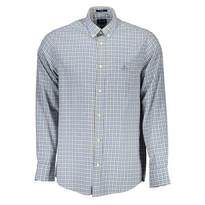 Regular Windblown Oxford Check Shirt - Blue/yellow