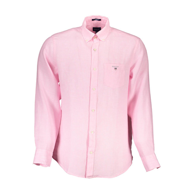 Linen Regular Fit Shirt - Pink