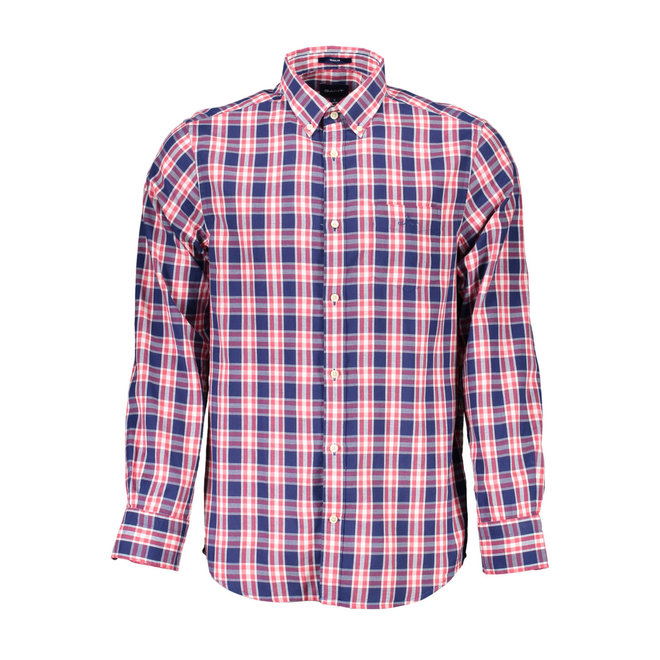 Checked Regular Fit Oxford  Shirt -Red