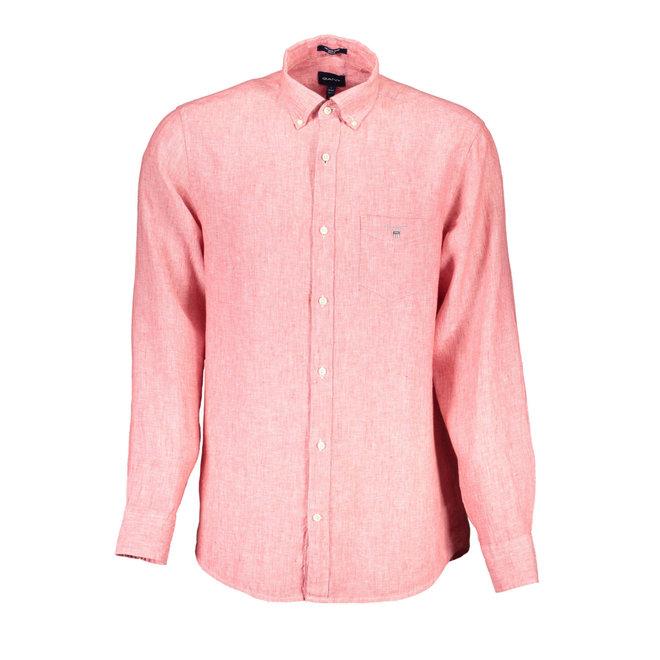 Linen Regular Fit Shirt - Red