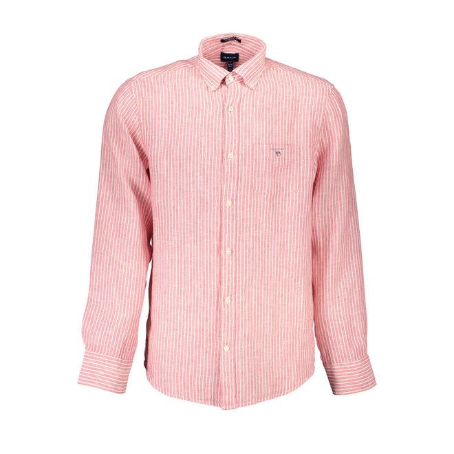 Linen Banker Regular Fit Shirt - Red