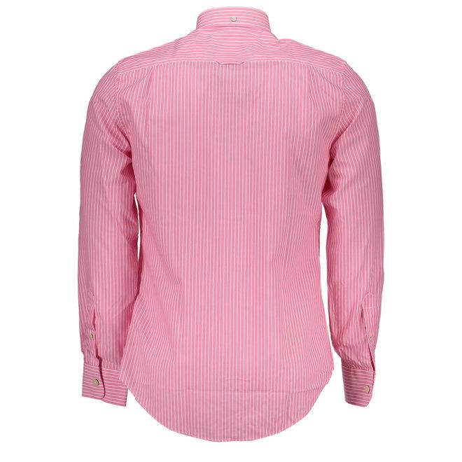 Striped cotton Oxford shirt - Pink