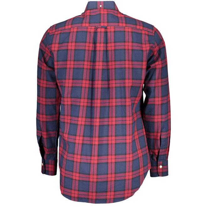 Regular Fit Winter Twill Plaid Shirt - Red