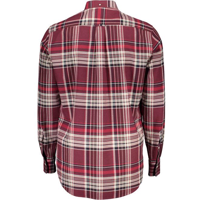 Regular Fit Brushed Oxford Shirt - Port Red
