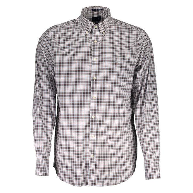 Regular Fit Three-Color Gingham Broadcloth Shirt - Brown