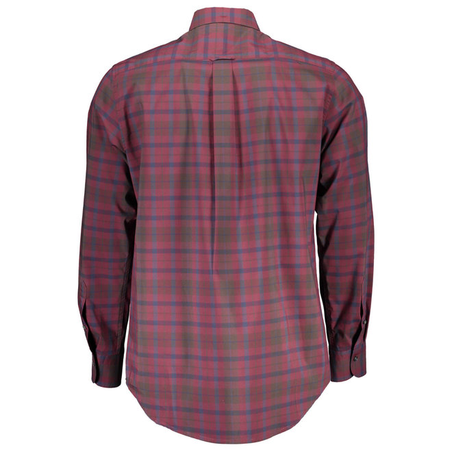 Tech Prep™ Plaid Broadcloth shirt - Burgundy