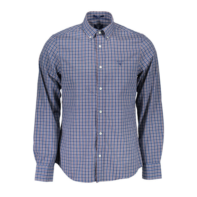 Regular Fit  Gingham Oxford Shirt - Blue