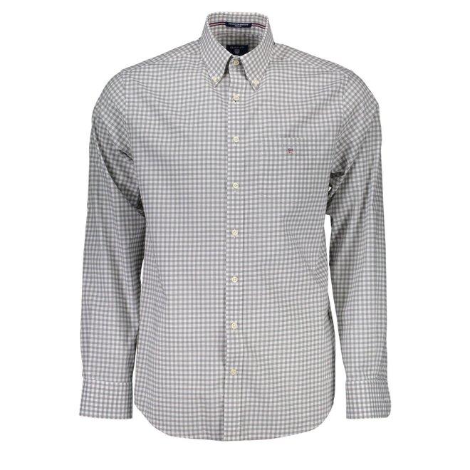 Poplin Gingham Check Shirt - Grey