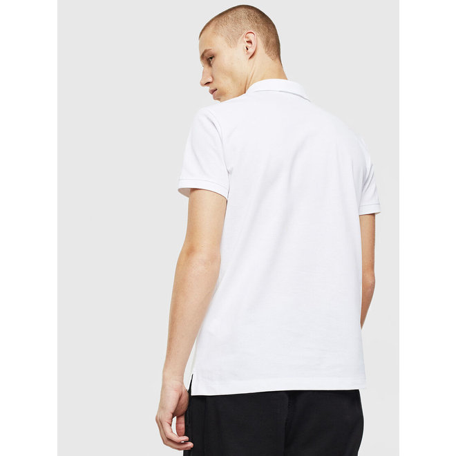 Diesel T-weet -split Pique polo shirt with double logo - White
