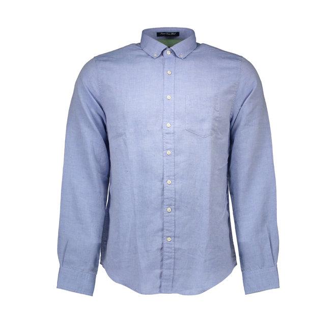 Cotton -Linen shirt - Light blue