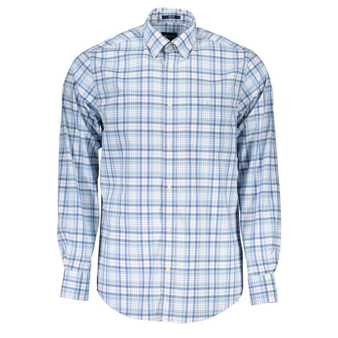 Checked Regular Fit Shirt - Light blue
