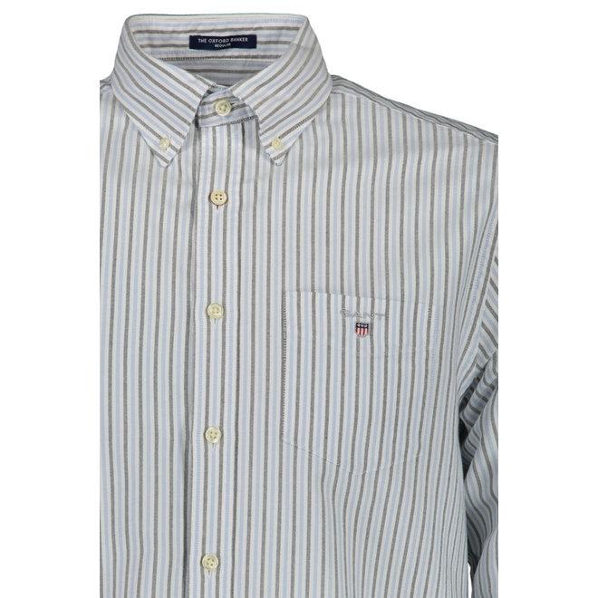 Regular Fit Two-Color Banker Oxford Shirt - Capri blue