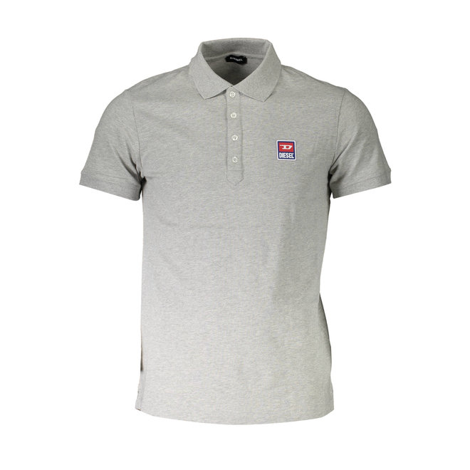 T-weet -split Pique polo shirt with double logo - Grey