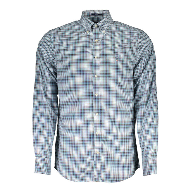 Regular Fit Three-Color Gingham Broadcloth Shirt - Light green