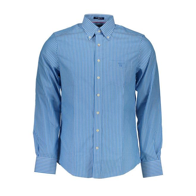 Striped cotton Oxford shirt - Blue