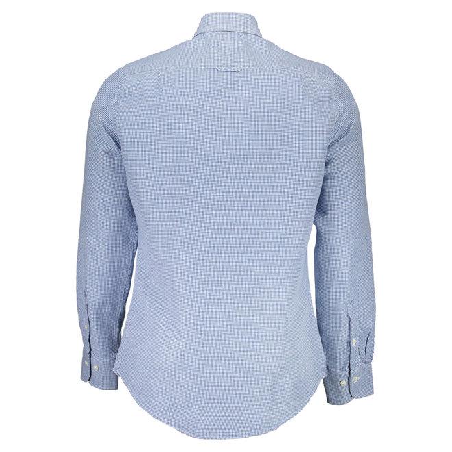Pure Prep Slim Fit Linen Houndstooth Shirt