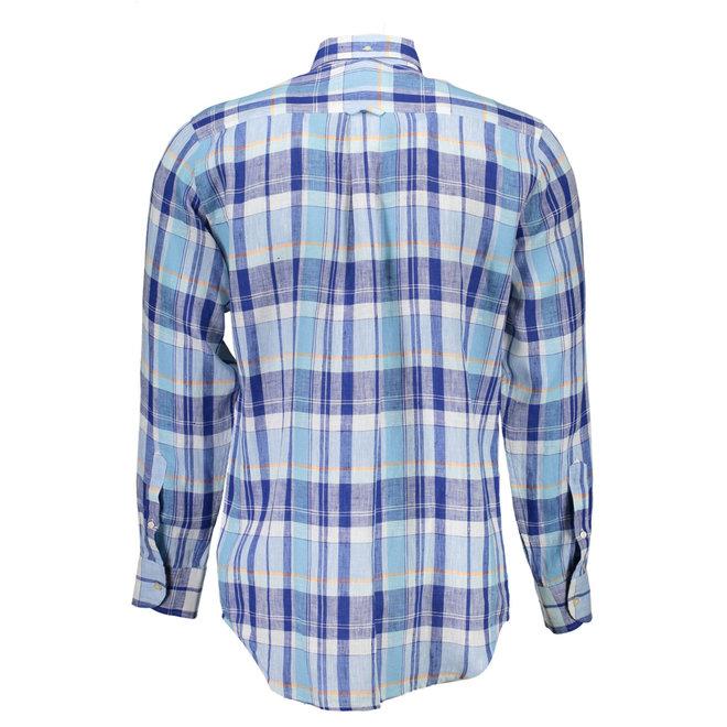 Linen Madras Shirt - Blue