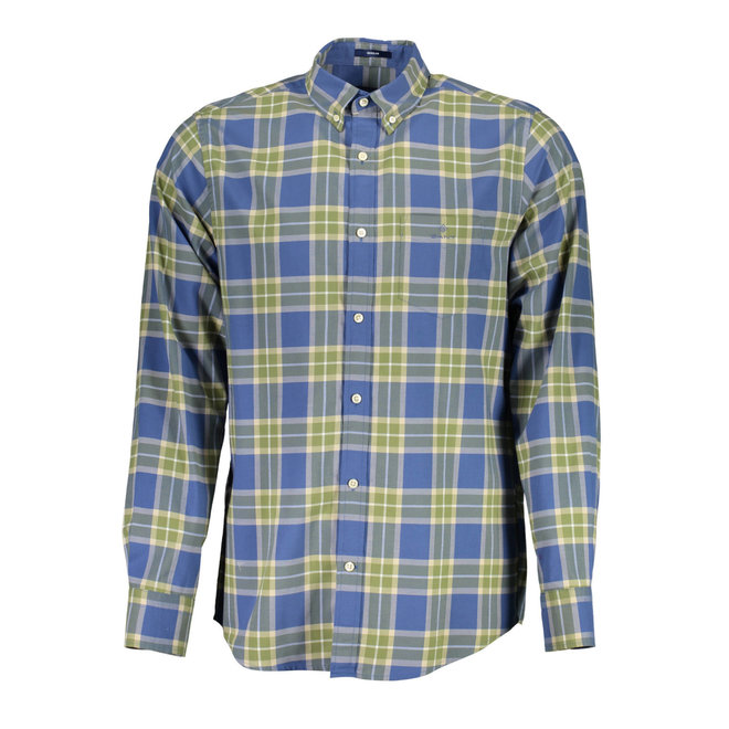 Regular Fit Winter Twill Plaid Shirt - Blue
