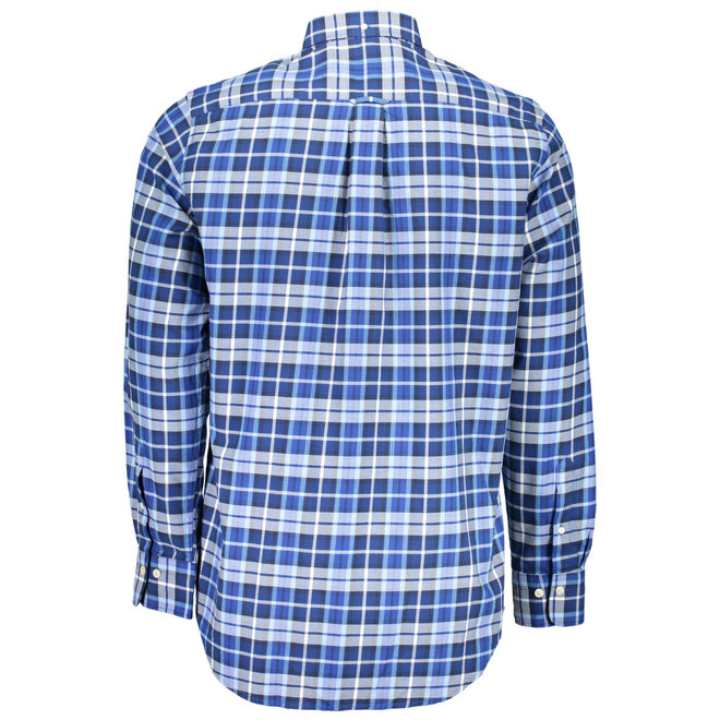 Regular Winter Twill Plaid Shirt  Blue