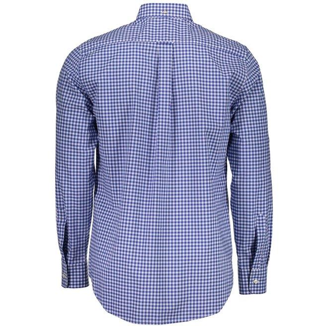 Poplin Gingham Check Shirt - Blue