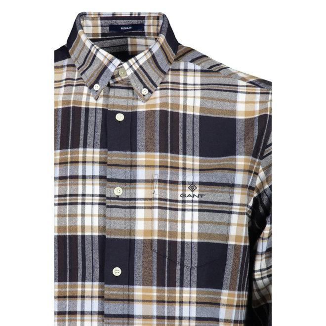 Regular Fit Brushed Oxford Shirt -Evening Blue