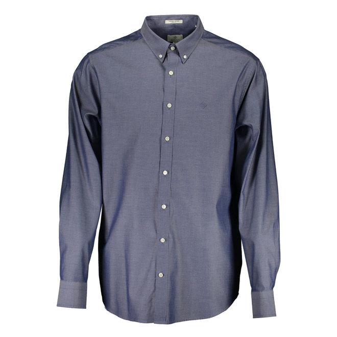 Regular Fit Pinpoint Oxford Shirt - Blue