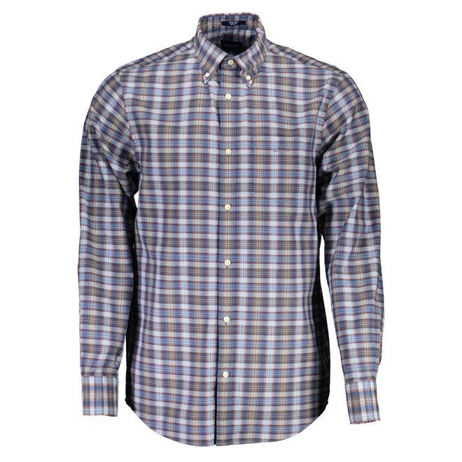 Regular Fit Tech Prep™ Indigo Check Shirt - Persian blue