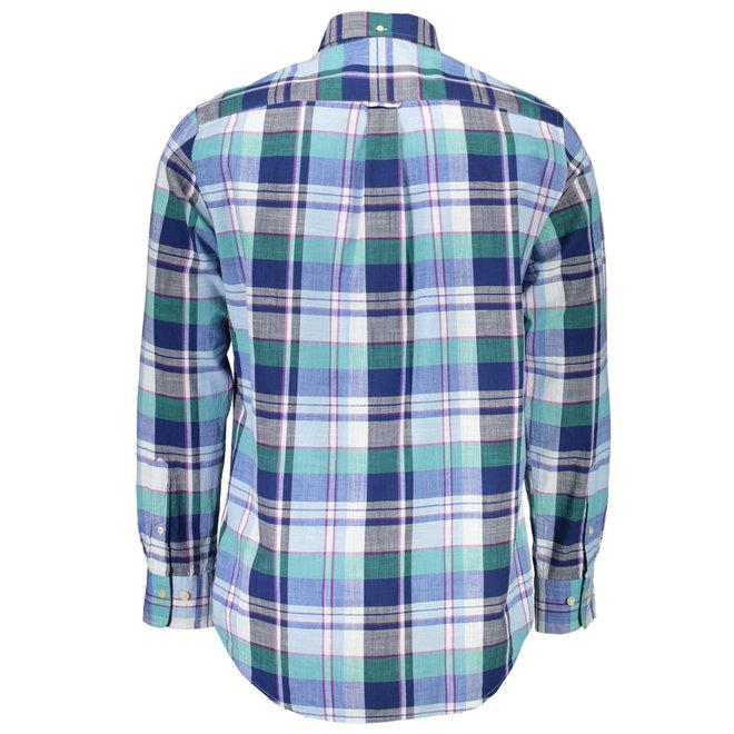Regular fit check shirt - Blue