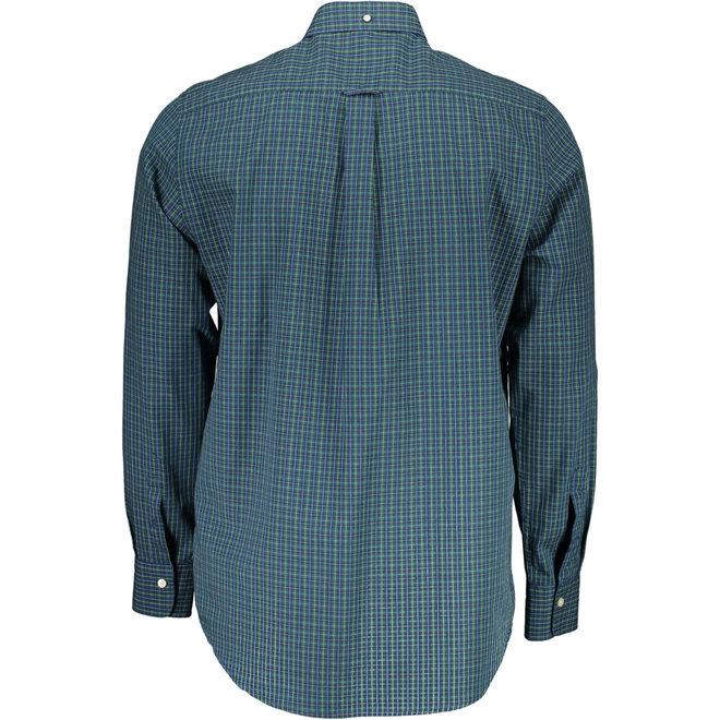 Regular Fit 2-Color Gingham Oxford Shirt - Green