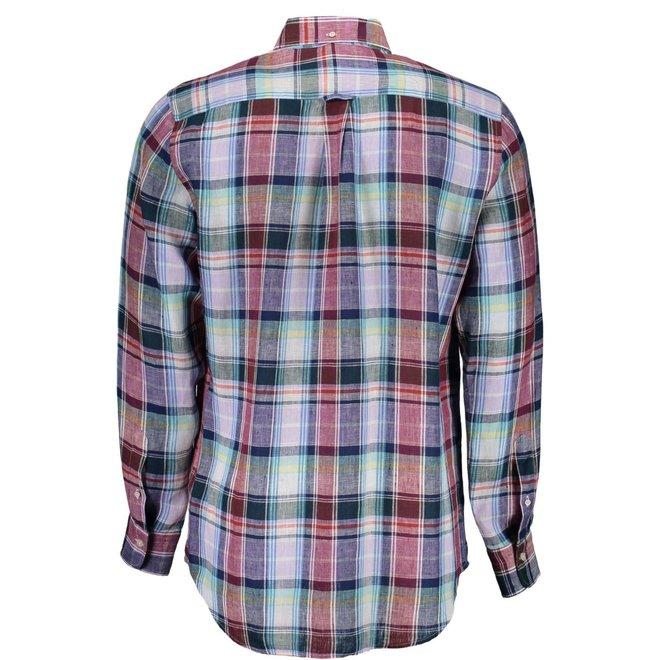 Colourful linen check shirt