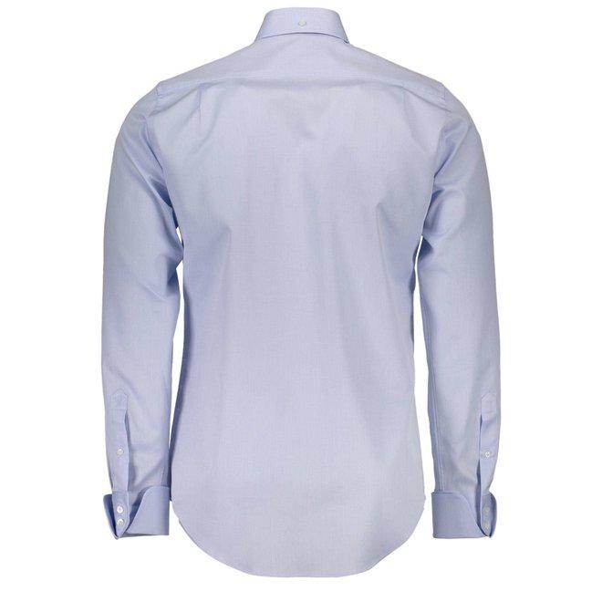 Casual regular fit cotton shirt - Light blue