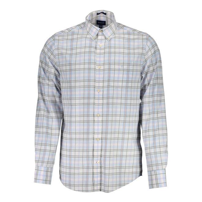 Regular Fit Winter Twill Heather Shirt - Hamptons Blue