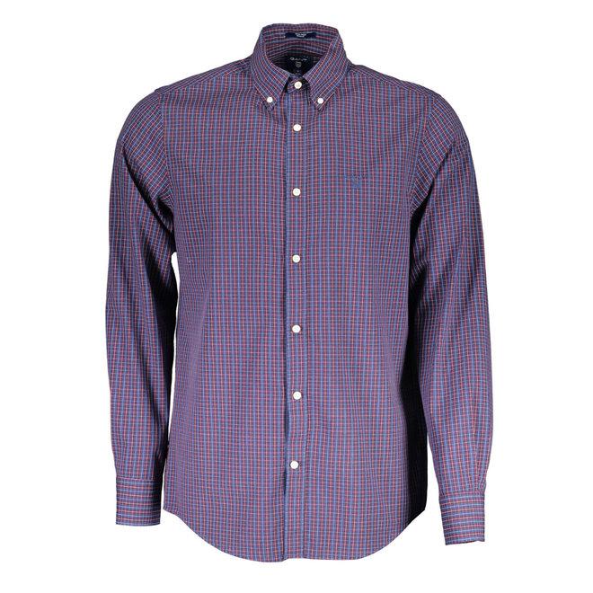 Regular Fit 2-Color Gingham Oxford Shirt - Red/blue
