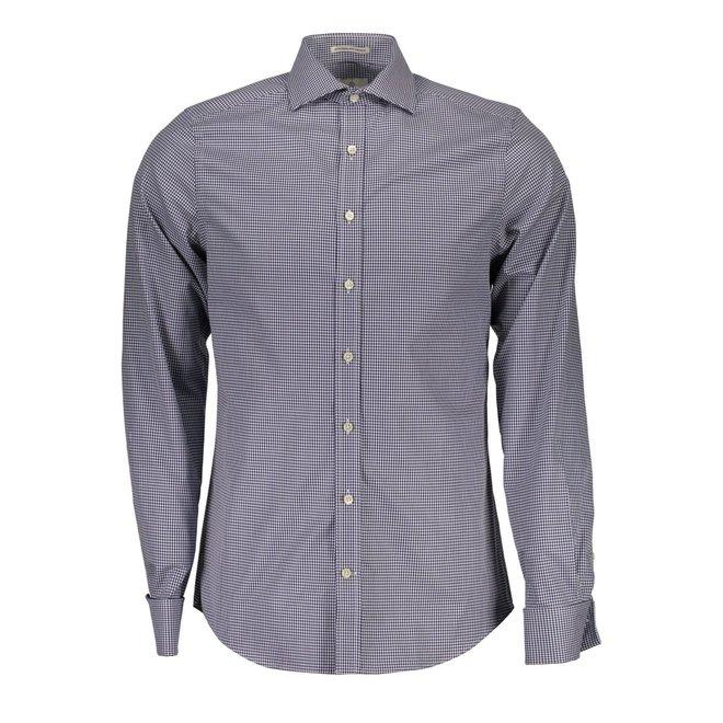 Slim Fit Herringbone Gingham Check Shirt
