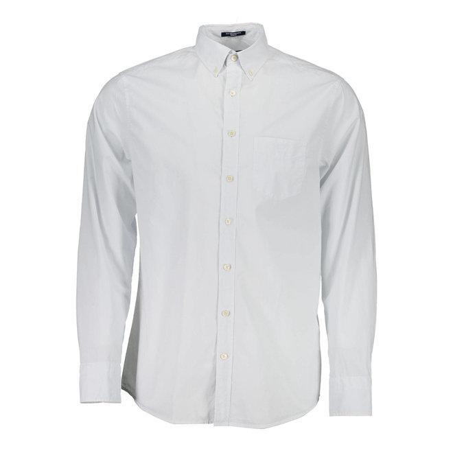 Dyed Button Down Regular Fit Shirt- Light blue