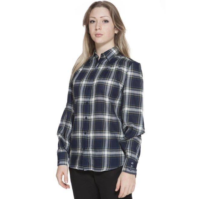 Cotton  Shirt Women -  Blue checked