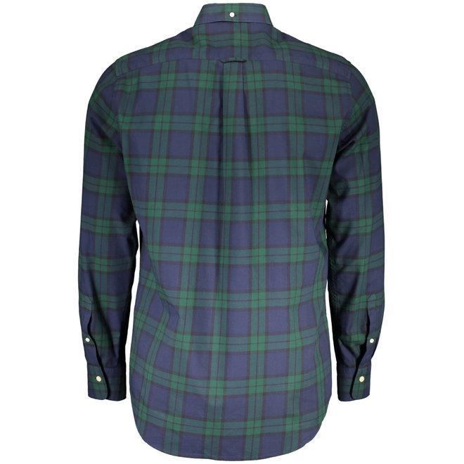 Regular Fit Winter Twill Plaid Shirt - Green
