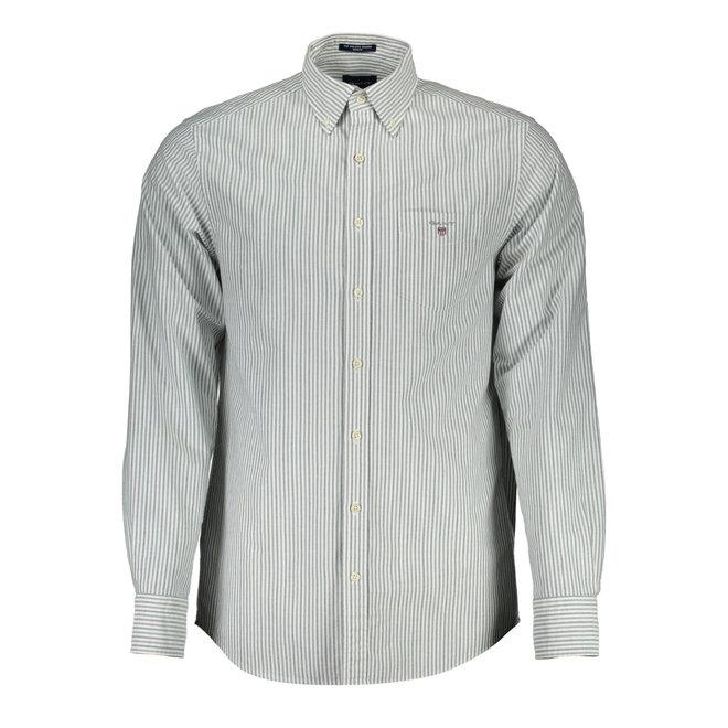 Regular Fit Two-Color Banker Oxford Shirt - Ivy Green