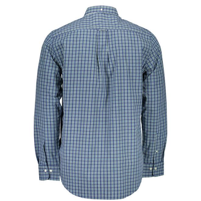 Regular Fit 2-Color Gingham Oxford Shirt - Blue/green