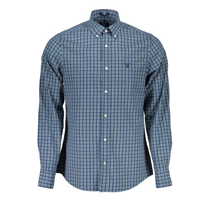 Regular Fit  Gingham Oxford Shirt - Green/blue