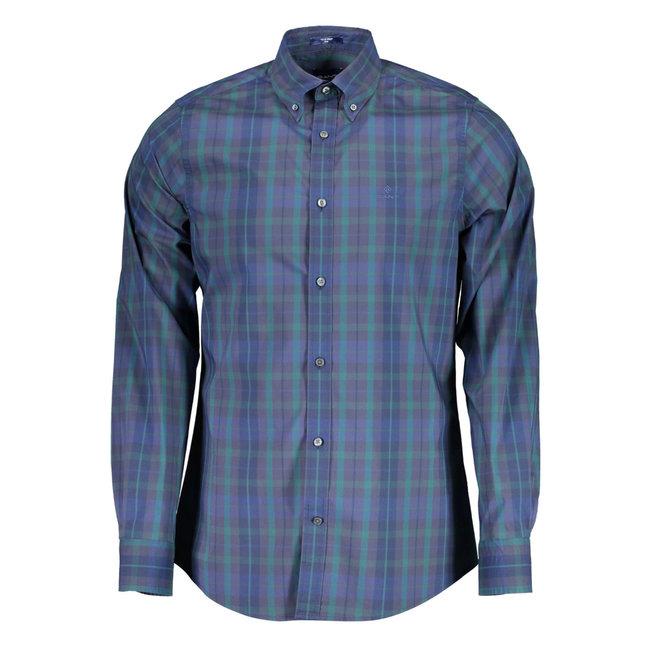 Slim Fit Tech Prep™ Plaid Broadcloth Shirt - Atlantic Deep